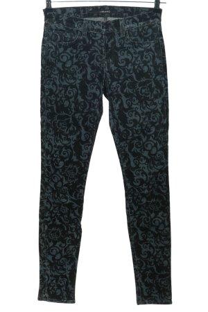 J brand Skinny Jeans blau-schwarz Allover-Druck Casual-Look