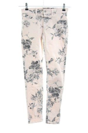 J brand Skinny Jeans creme-hellgrau Blumenmuster Casual-Look