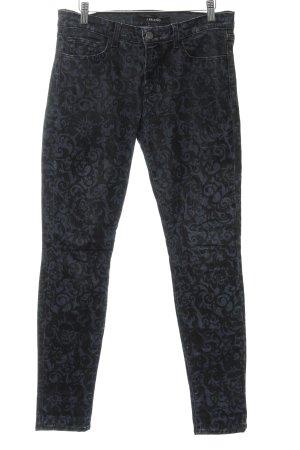 J brand Skinny Jeans dunkelblau-schwarz abstraktes Muster Street-Fashion-Look