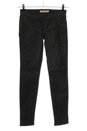 J brand Slim Jeans schwarz Animalmuster Glanz-Optik