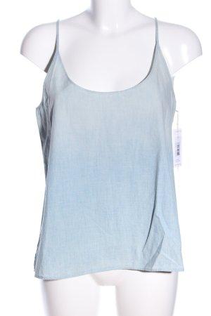 J brand Top con bretelline blu-grigio chiaro Colore sfumato stile casual