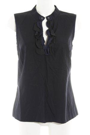 J.crew ärmellose Bluse schwarz-blau schlichter Stil