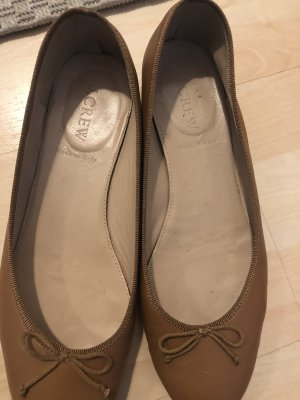 J.crew Mary Jane Ballerinas brown leather