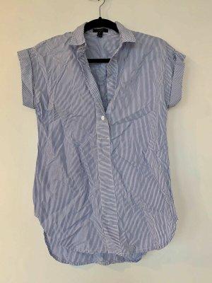 J.crew Short Sleeve Shirt steel blue-white