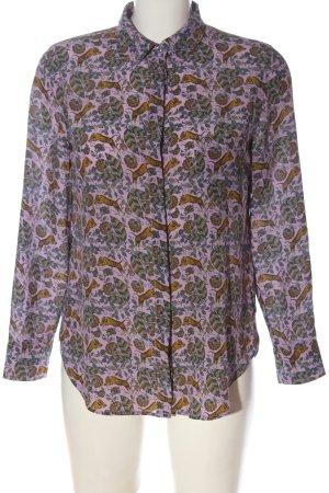J.crew Camicia blusa rosa-arancione chiaro stampa integrale elegante
