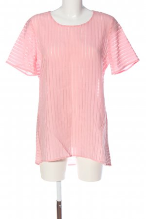 J.crew Kurzarm-Bluse pink Streifenmuster Casual-Look