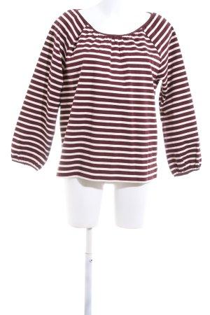 J.crew Langarm-Bluse rot-weiß Streifenmuster Casual-Look