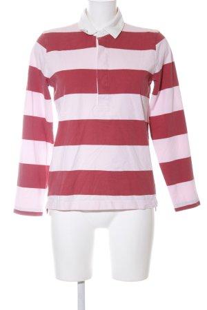 J.crew Camicia a maniche lunghe bianco-rosso motivo a righe stile casual