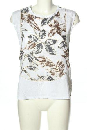 J.crew Lniana bluzka biały-brązowy Nadruk z motywem W stylu casual