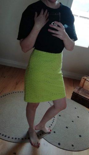 J.crew Lace Skirt lime yellow