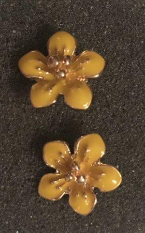 J.Crew Ohrringe Blumen Flotter Sommer gelb