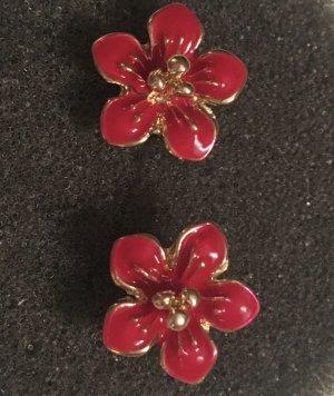 J.Crew Ohrringe Blumen Flotter Sommer rot