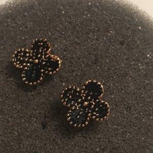 J.Crew Ohrringe Blumen Flotter Sommer schwarz