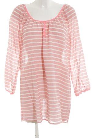 J.crew Oversized Bluse pink-weiß Streifenmuster Casual-Look