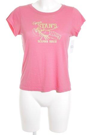 J.crew Print-Shirt magenta-neongrün Motivdruck Casual-Look