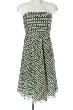 J.crew schulterfreies Kleid abstraktes Muster klassischer Stil