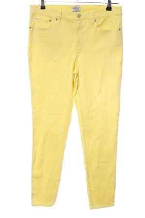 J.crew Skinny Jeans blassgelb Casual-Look