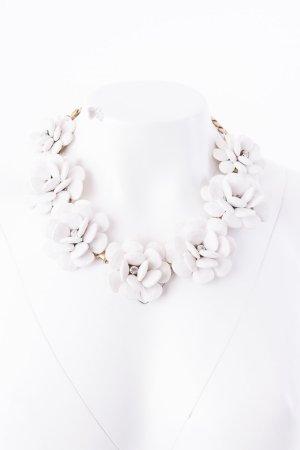 J.CREW - Statementkette mit Blumen Weiß