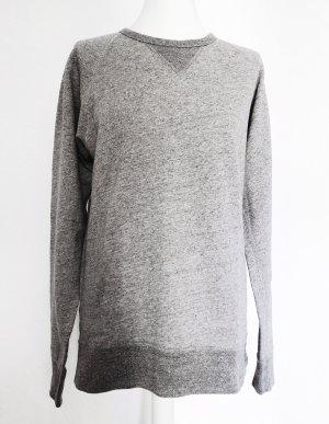 Sweatshirt argenté coton