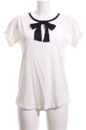 J.crew T-Shirt weiß-schwarz Elegant