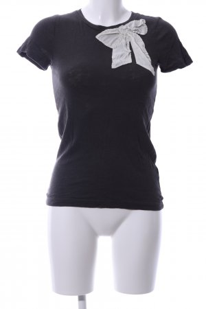 J.crew T-Shirt schwarz-weiß Casual-Look