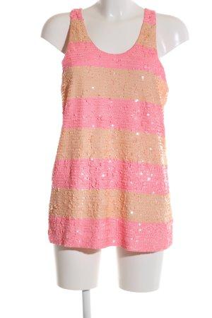 J.crew Top met spaghettibandjes roze-nude gestreept patroon glitter-achtig