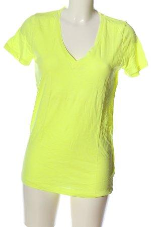 J.crew V-Ausschnitt-Shirt blassgelb Casual-Look