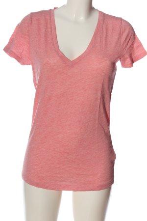 J.crew V-Ausschnitt-Shirt pink meliert Casual-Look
