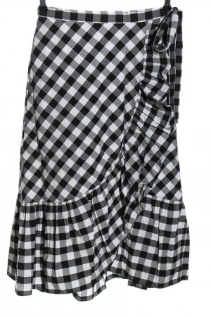 J.crew Wraparound Skirt black-white check pattern casual look