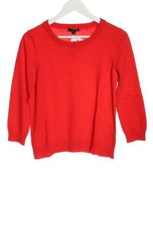 J.crew Maglione di lana rosso stile casual
