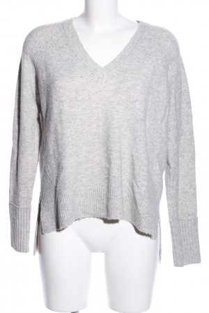 J.crew Wool Sweater light grey flecked casual look