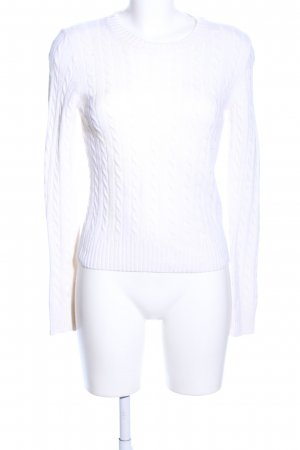 J.crew Wool Sweater white cable stitch casual look