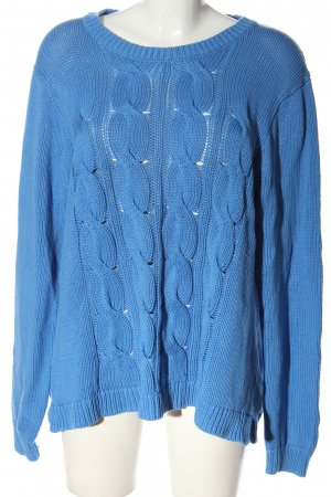 J.crew Cable Sweater blue cable stitch casual look