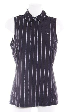 J.lindeberg ärmellose Bluse schwarz Streifenmuster sportlicher Stil