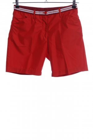 J.lindeberg Shorts rot-weiß Streifenmuster Casual-Look