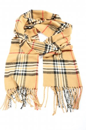 J & R Italy Design Fringed Scarf check pattern casual look
