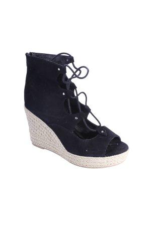 J/Slides Wedges Sandaletten schwarz Bastelemente