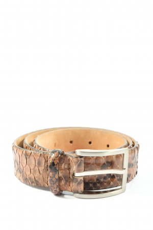 j. tees Leather Belt brown-nude allover print casual look