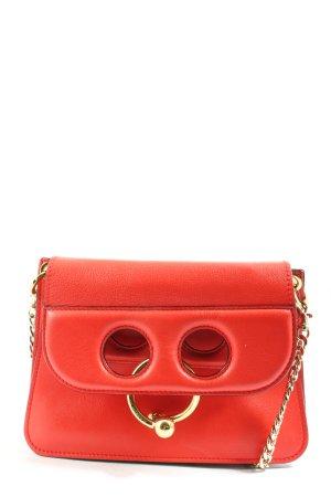 J.w.anderson Bolso con correa rojo-color oro look casual