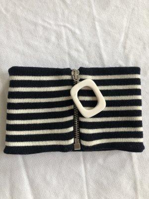 J.W.Anderson Schalkragen Schal mit Reißverschluss gestreift Streifen in Blau Weiß