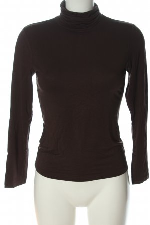 J&W Turtleneck Shirt brown casual look