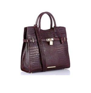 Shopper bordeaux leather