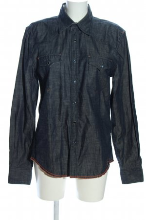 Jack & Jones Jeanshemd hellgrau meliert Casual-Look