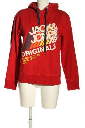 Jack & Jones Sudadera con capucha estampado temático look casual