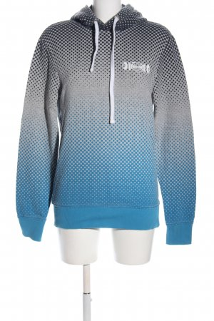 Jack & Jones Kapuzensweatshirt hellgrau-blau Allover-Druck Casual-Look