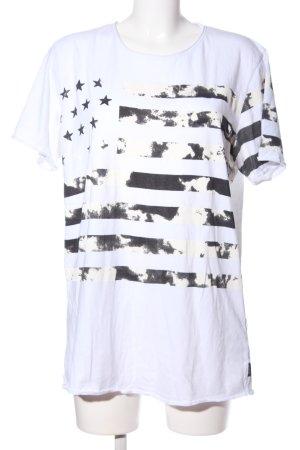 Jack & Jones Print-Shirt weiß-schwarz Motivdruck Casual-Look