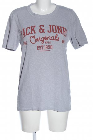 Jack & Jones Print Shirt light grey-brown flecked casual look