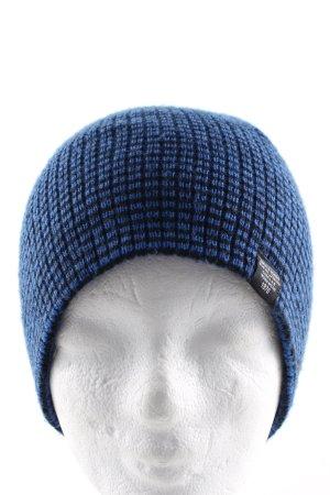 Jack & Jones Fabric Hat blue-black striped pattern business style