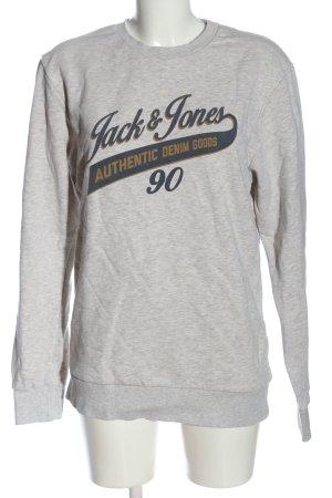 Jack & Jones Sweatshirt hellgrau-blau meliert Casual-Look