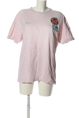 Jack & Jones T-Shirt pink-grün Schriftzug gestickt Casual-Look